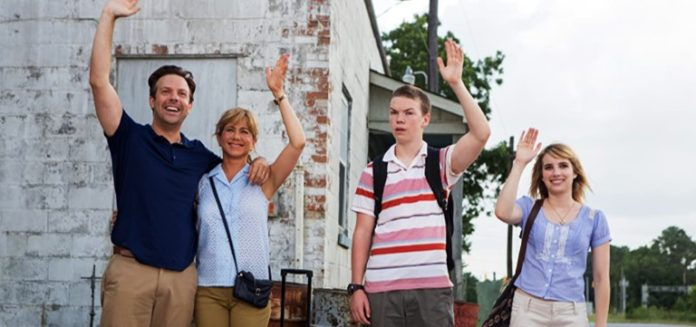 Jennifer Aniston, Emma Roberts, Jason Sudeikis, and Will Poulter in We're the Millers 2013