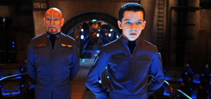 Ben Kingsley and Asa Butterfield in Ender's Game 2013