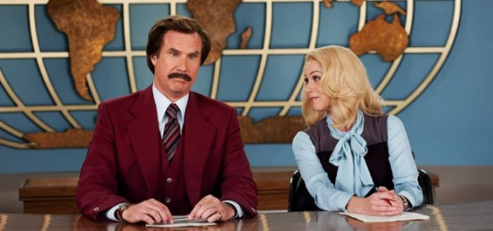 Christina Applegate and Will Ferrell in Anchorman 2 The Legend Continues 2013
