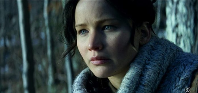 Jennifer Lawrence in The Hunger Games Catching Fire 2013