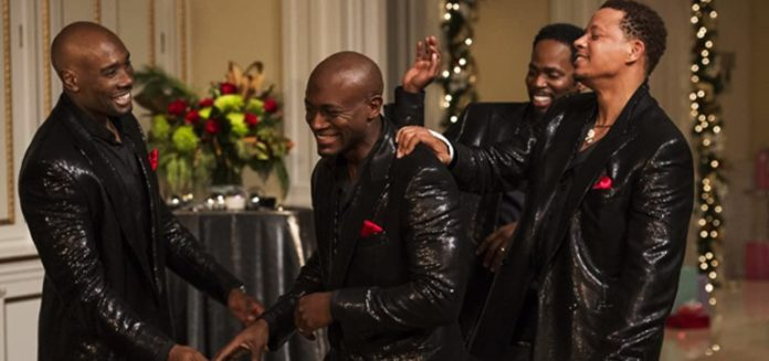 Morris Chestnut, Taye Diggs, Terrence Howard, and Harold Perrineau in The Best Man Holiday 2013