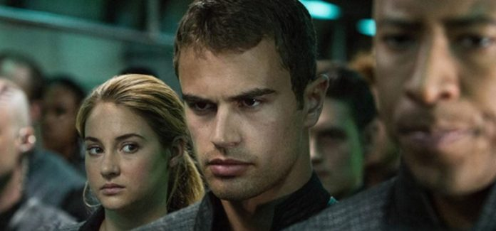 Shailene Woodley and Theo James in Divergent (2014)