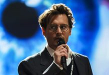 Johnny Depp in Transcendence 2014