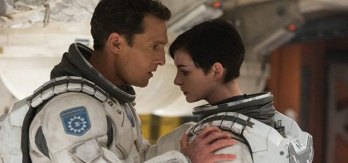 Matthew McConaughey and Anne Hathaway in Interstellar 2014
