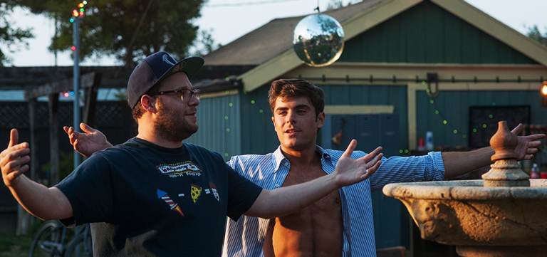 Zac Efron and Seth Rogen in Neighbors 2
