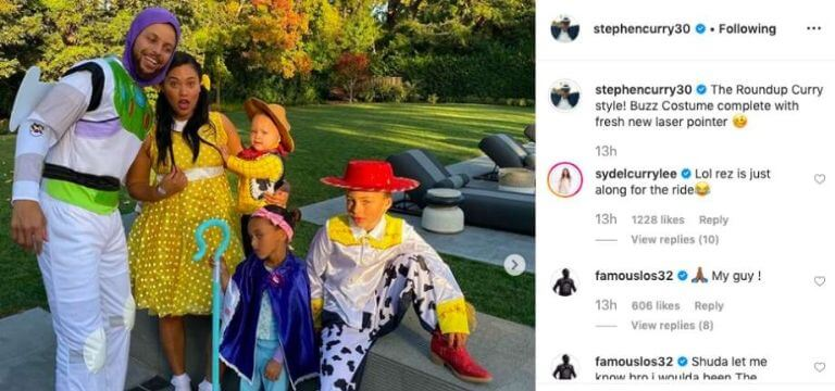 Steph Curry Family Halloween Costumes